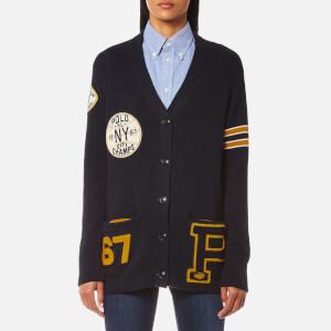 Polo Ralph Lauren Women's Varsity Style Cardigan - Admiral Navy