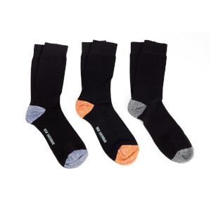 Ben Sherman Men's Irthing 3 Pack Socks - Black/Orange/Navy - UK 7 - 11