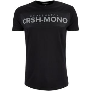 T-Shirt Homme Maffle Crosshatch -Noir