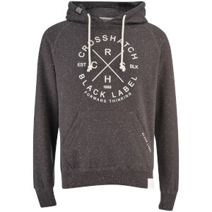 Crosshatch Men's Fizzy Fleck Fabric Hoody - Magnet Grey