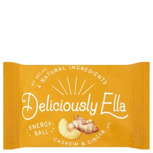 Deliciously Ella Cashew & Ginger Energy Ball - Box of 12