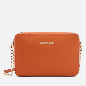 MICHAEL MICHAEL KORS Women's Jet Set Large East West Cross Body Bag - Orange