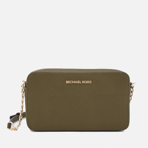 MICHAEL MICHAEL KORS Women's Jet Set Medium East West Cross Body Bag - Olive