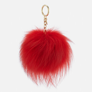 MICHAEL MICHAEL KORS Women's Large Fur Pom Pom - Bright Red
