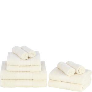 Highams 100% Egyptian Cotton 10 Piece Towel Bale (500 gsm) - Cream
