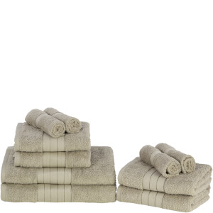 Highams 100% Egyptian Cotton 10 Piece Towel Bale (500 gsm) - Mink