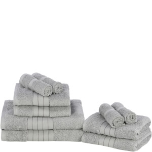 Highams 100% Egyptian Cotton 10 Piece Towel Bale (500 gsm) - Silver