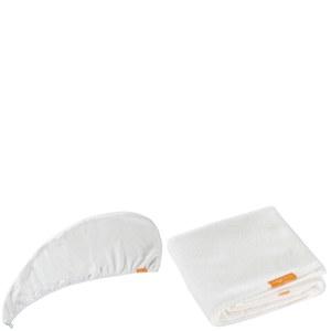 Aquis Lisse Luxe Hair Turban and Hair Towel - White Bundle (Worth £65)