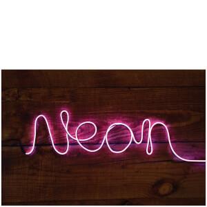 Neonlicht Schriftzug Effect Sign zum Selberformen – Pink