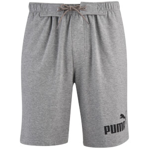 Puma Men's Logo Jog Shorts - Grey