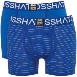 Crosshatch Men's 2 Pack Syntho Boxer Shorts - Nautical Blue
