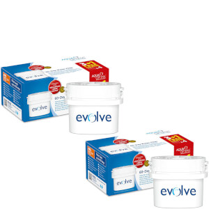 Aqua Optima 8 x 60 Day Evolve Water Filter Cartridges Fits BRITA MAXTRA Jugs (16 Month Pack)
