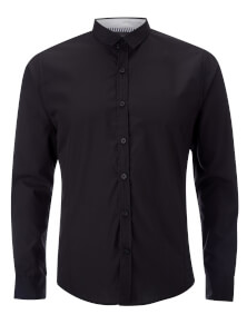 Brave Soul Men's Tudor Long Sleeve Shirt - Black