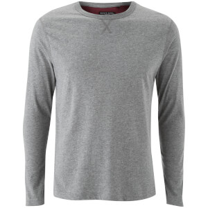 Brave Soul Men's Prague Long Sleeve Top - Mid Grey Marl