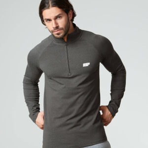 Performance langærmet 1/4 Zip Top