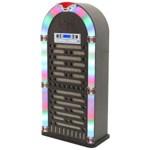 iTek Multi-Functional Bluetooth Jukebox with CD Player, FM Radio Function and LED Display - Brown