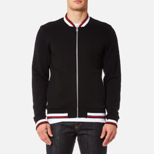 HUGO Men's Danleys Jersey Bomber Jacket - Black