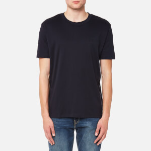 HUGO Men's Derrif Crew Neck Embossed Logo T-Shirt - Navy