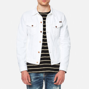 Nudie Jeans Men's Billy Denim Jacket - Pitch White Worn
