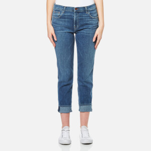 J Brand Women's Johnny Mid Rise Boy Fit Jeans - Heartbroken