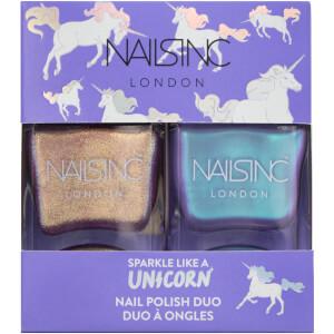 nails inc. Sparkle Like a Unicorn Nail Varnish Duo Kit 2 x 14ml