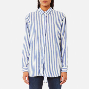 Samsoe & Samsoe Women's Caico Shirt - Surf The Web Stripe