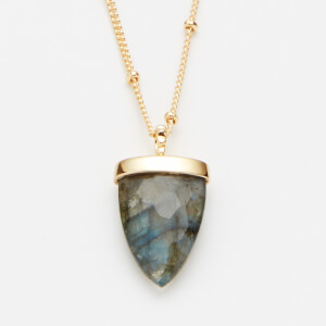 Missoma Women's Labradorite Kismet Pendant and Medium Beaded Chain - Gold/Multi