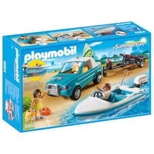 Voiture avec bateau et moteur submersible (6864) -Playmobil
