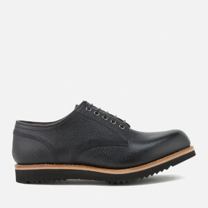 Grenson Men's Drew Grain Leather Derby Shoes - Black