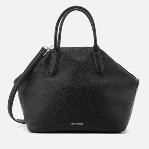 Lulu Guinness Women's Large Peekaboo Lip Valentina Tote Bag - Black