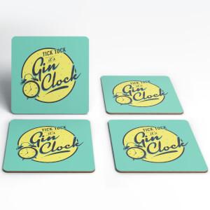 Gin O'Clock Coasters