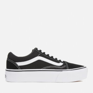 Vans Women's Old Skool Platform Trainers - Black/White