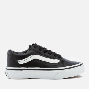 Vans Kids' Old Skool Classic Tumble Trainers - Black/True White