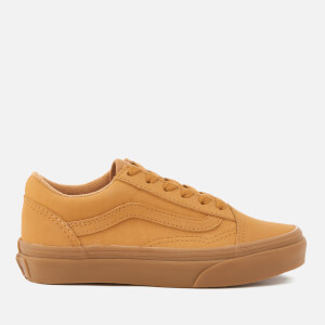 Vans Kids' Old Skool Vanbuck Trainers - Light Gum/Mono