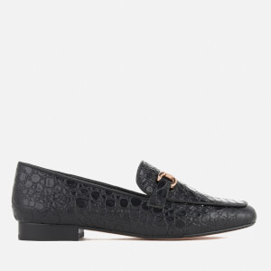 Dune Women's Lolla Leather Loafers - Black Croc