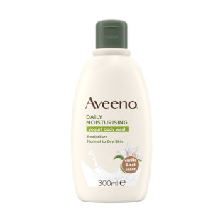 Aveeno Daily Moisturising Yogurt Body Wash Vanilla & Oat Scented 300ml
