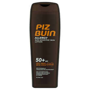 Piz Buin Allergy Sun Sensitive Skin Lotion balsam do skóry wrażliwej z bardzo wysokim filtrem przeciwsłonecznym SPF 50+ 200 ml