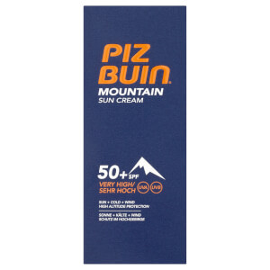 Crema solar Mountain de Piz Buin - FPS 50+ muy alto 50 ml