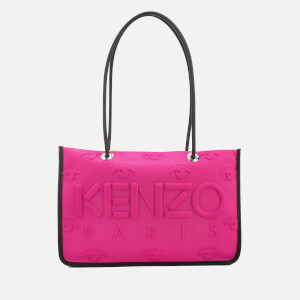 KENZO Women's Neoprene East West Tote Bag - Deep Fuchsia