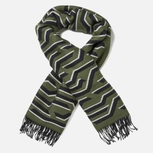 KENZO Women's Geotiger Wool Scarf - Dark Khaki