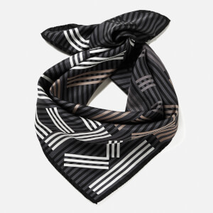 KENZO Women's High End Icons Silk Scarf - Anthracite