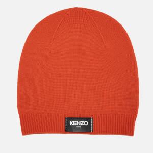 KENZO Women's Iconic Kenzo Label Beanie - Orange