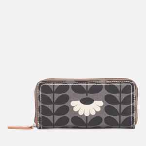 Orla Kiely Women's Linear Stem Big Zip Wallet - Jet