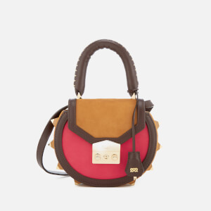 SALAR Women's Mimi Bold Bag - Tan/Pink