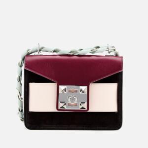 SALAR Women's Mila Cross Body Bag - Blood Black/Cipria Mint