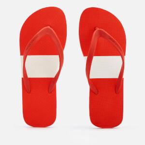 Orlebar Brown Men's Haston Flip Flops - Rescue Red/White