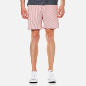 Orlebar Brown Men's Bulldog Seersucker 2 Swim Shorts - Raspberry