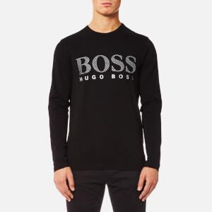 BOSS Green Men's Togn US Large Logo Long Sleeve T-Shirt - Black