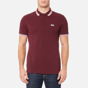 BOSS Green Men's Paddy Polo Shirt - Dark Red