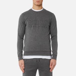 BOSS Green Men's Salbo Large Logo Sweatshirt - Medium Grey